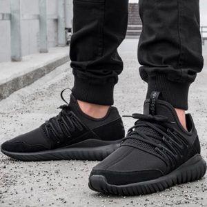 Shoes - Women's triple black adidas tubular viral